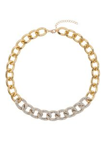 Crystals on flat chain choker