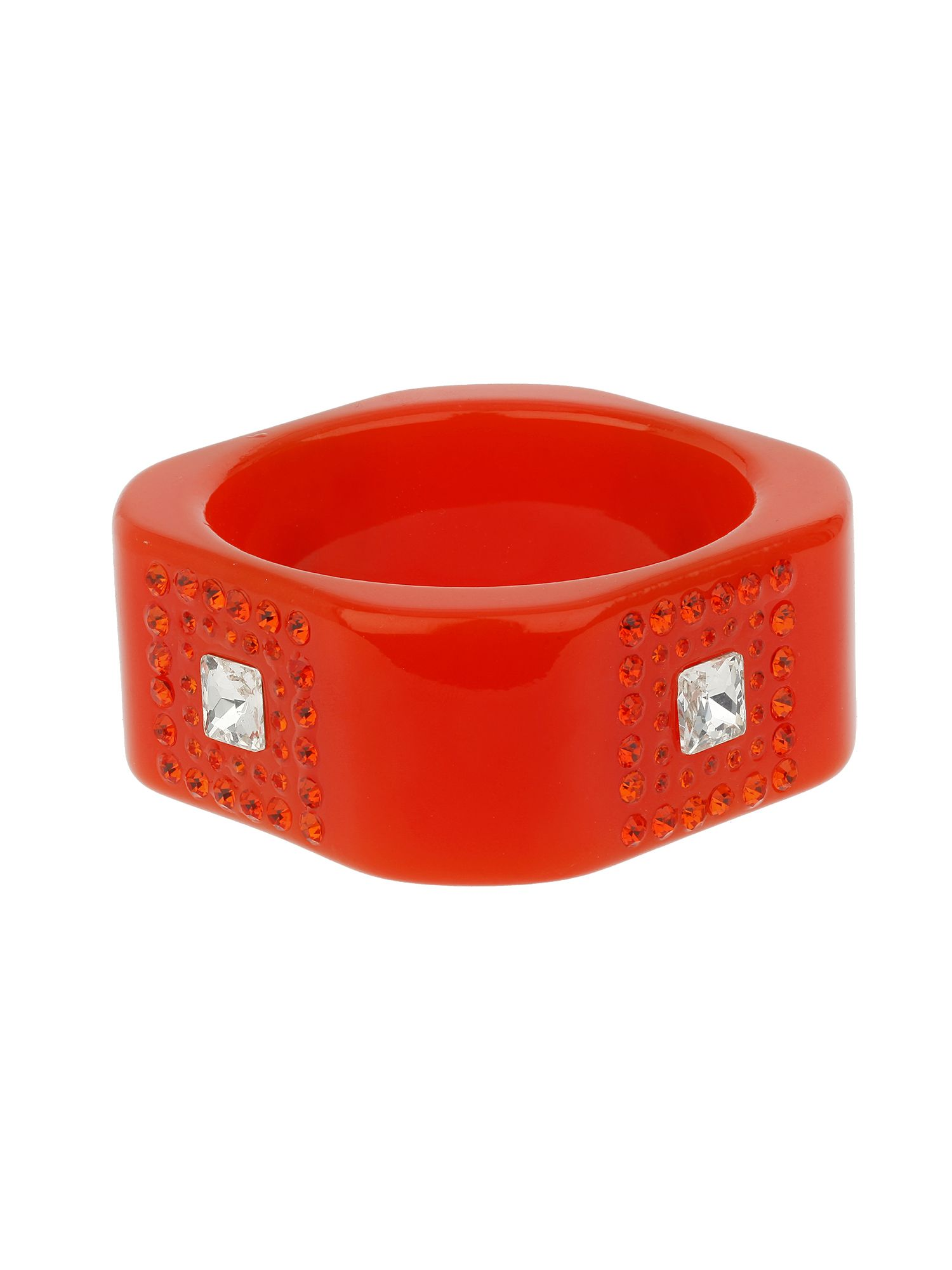 Square bangle with stones