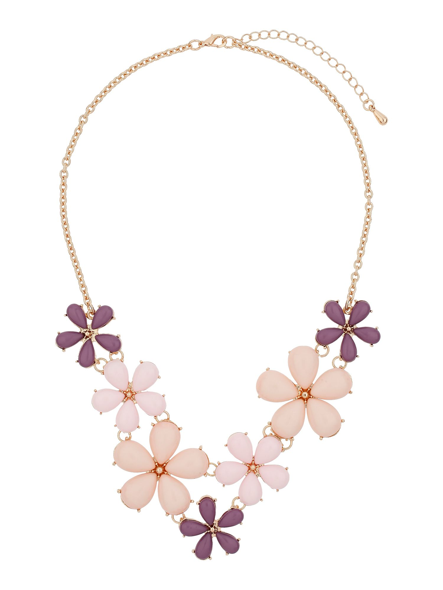 Multi daisy flower necklace