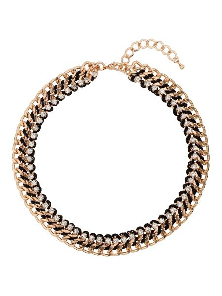 Mikey Crystal chain in metal choker