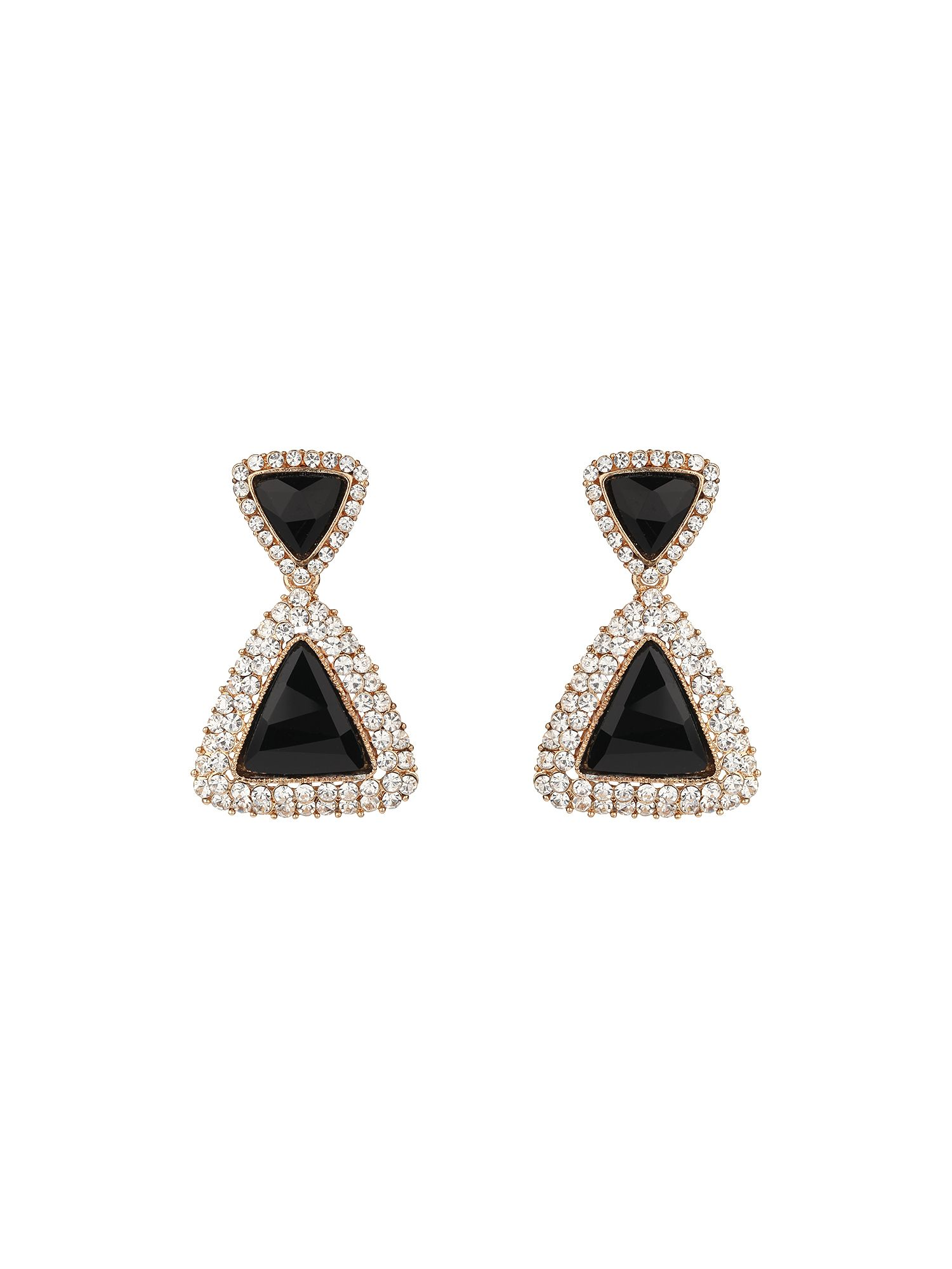 Double triangle earring