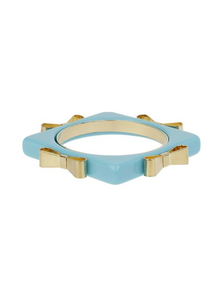 Mikey Square bangle with metal bow