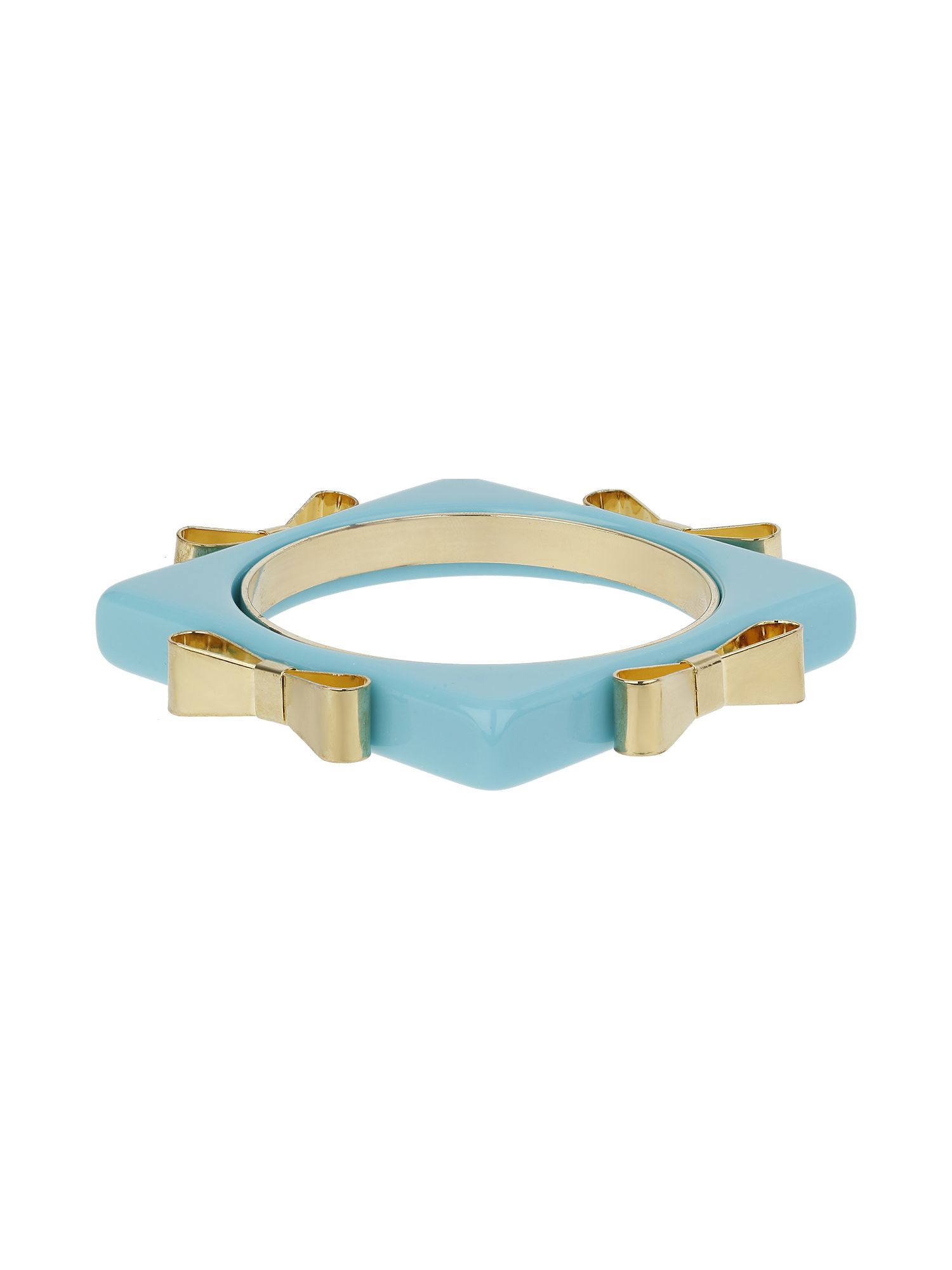 Square bangle with metal bow