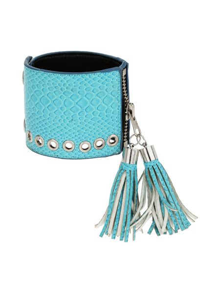 Mikey Leather cuff with tassles