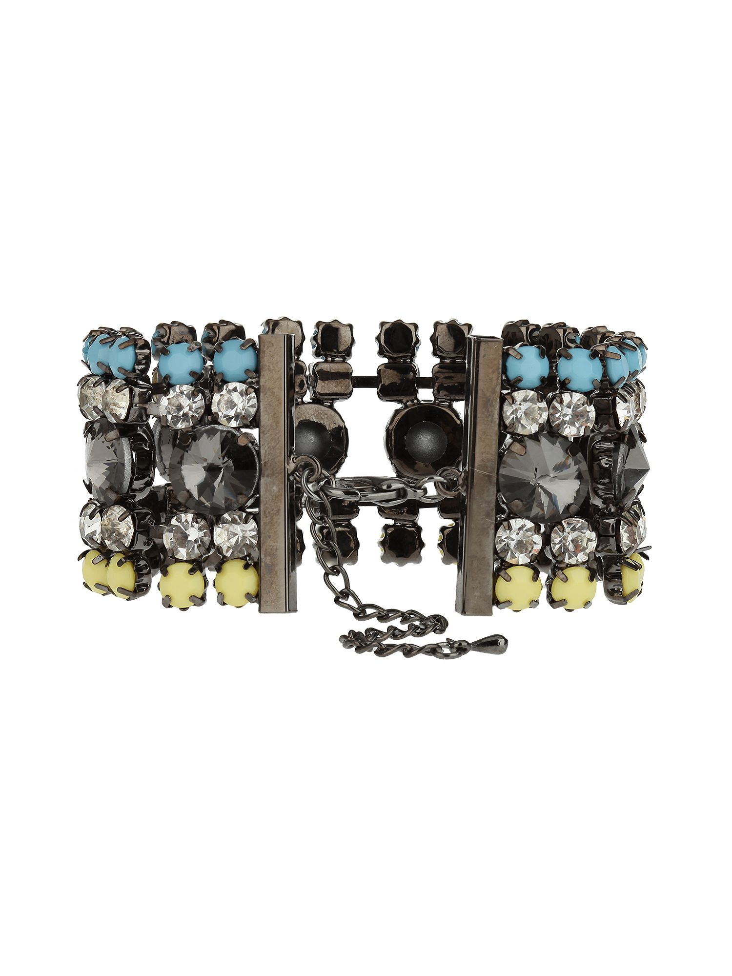 5 lines crystal stone coloured bracelet