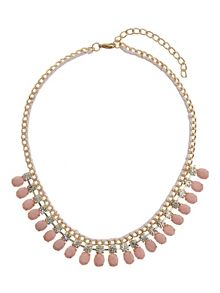 Rope metal chain with enamel necklace