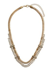 Multi chain crystal necklace