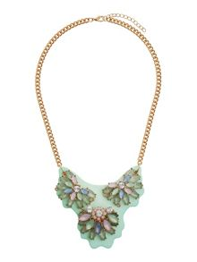 Mikey Coloured plate with flowers pendant