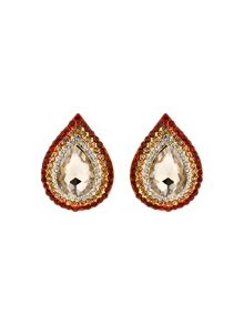 Mikey Oval Stone Marquise Surround Earring