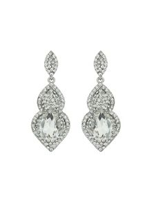 Twin oval shape stone marquise sur drop