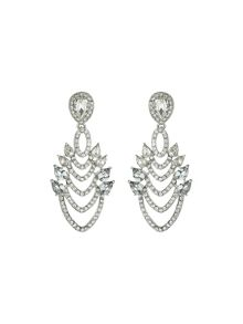 V shaped drops with marquise crystals