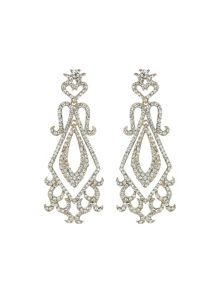 Diamond shaped drops  marquise crystals