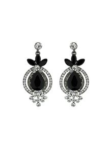 Large crystal marquise drop earring