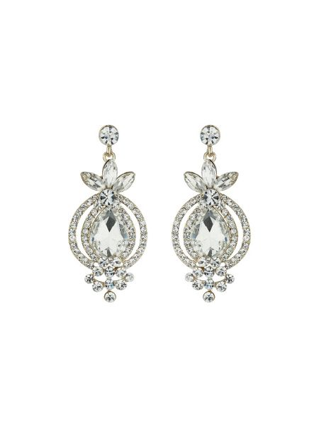 Mikey Large crystal marquise drop earring