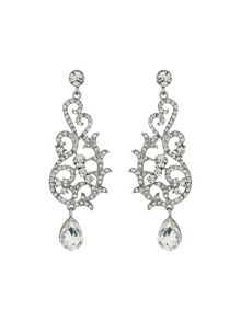 Fillagary drop crystal earring
