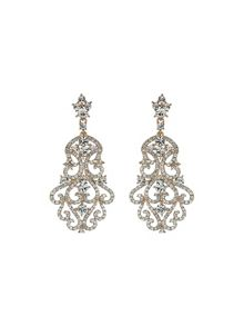 Large fillagary marquise crystal earring