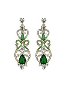 Lamp fillagary marquise crystal earring