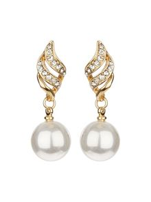 Twist drop with pearl set