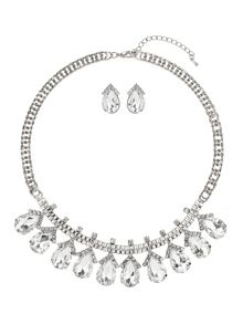 Hanging oval crystal set
