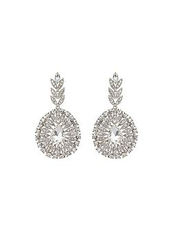 Fillagary drop circle crystal earring