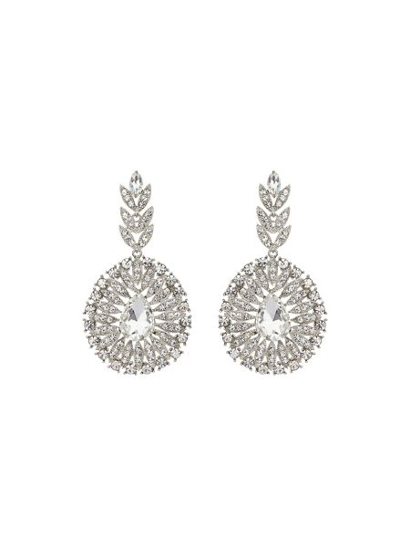 Mikey Fillagary drop circle crystal earring