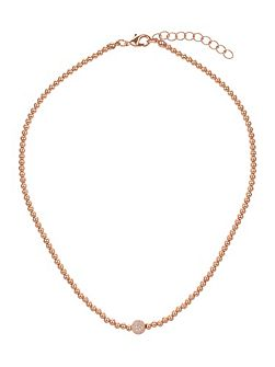 Cubic crystal ball elastic necklace