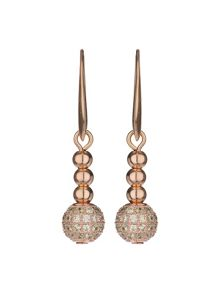 Mikey Cubic crystal ball drop earring