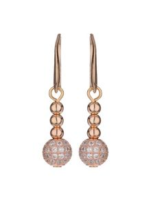 Cubic crystal ball drop earring