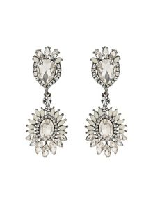 Mikey Oval Crystals Attach Crystals Earring