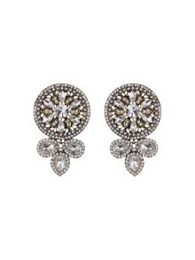 Fillagary design rnd crystal earring