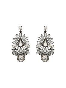 Mikey Fillagary Crystal Oval Stone Earring