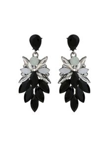 Mikey Drop Leaf Crystals Earring