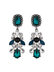 Mikey Drop side bow crystals earring