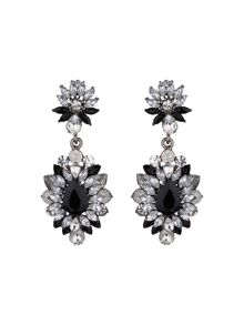 Drop flower crystal earring