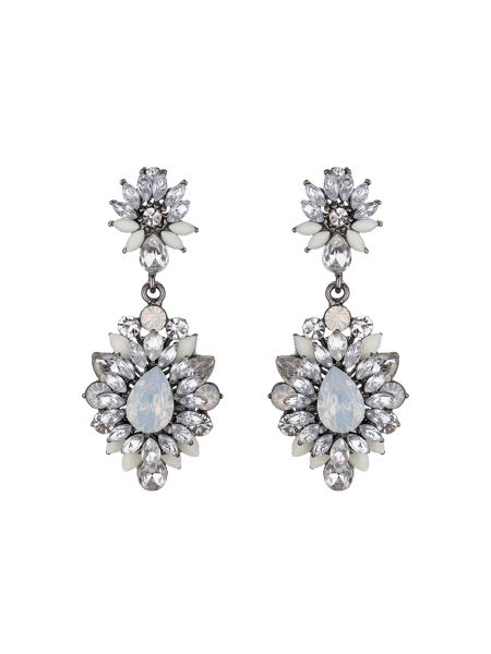 Mikey Drop flower crystal earring