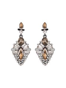 Drop crystal hanging earring