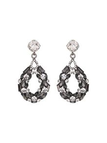 Circle ring crystals earring