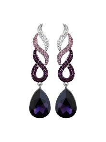 Twisted dsgn + drop crystal earring