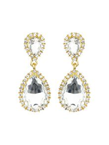 Twin oval stone marquise dop earring