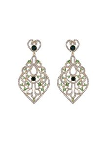 Mikey Large oval fillagary crystal earring
