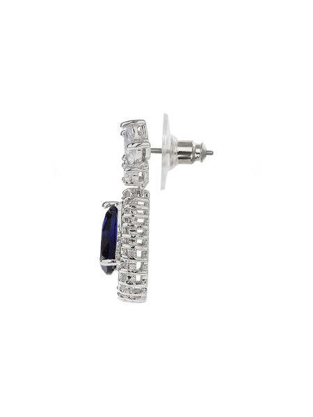 Mikey Oval Cubic Marquise Surround Drop Earrin