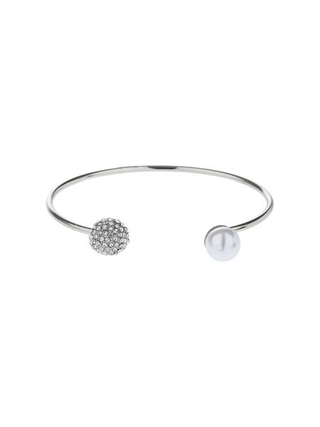 Mikey Crystal Ball And Pearl Ball Bangle