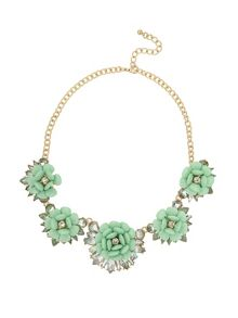 Mikey Multi Enamel Flower Linked Necklace