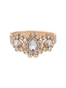 Fillagary design oval stone centre cuff