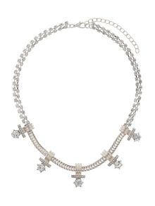 Crystal chain inca design necklace