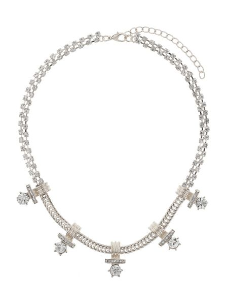 Mikey Crystal chain inca design necklace