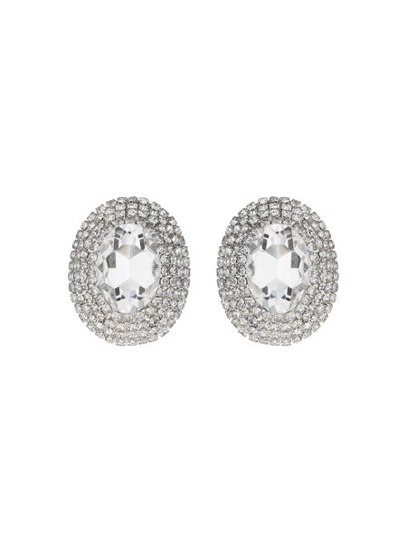 Mikey Oval crystal marquise clip on earring
