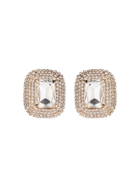 Mikey Rectangle stone marquise drop clip on