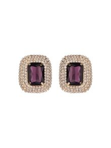 Rectangle stone marquise drop clip on