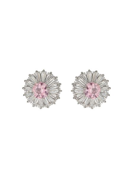 Mikey Cubic Stone Baugette Stud Earring